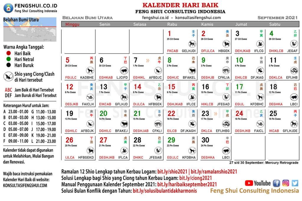 Kalender Hari Baik September 2021 untuk Belahan Bumi Utara